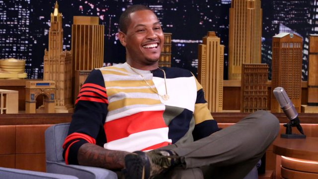 """Running Man Challenge"" with Carmelo Anthony"