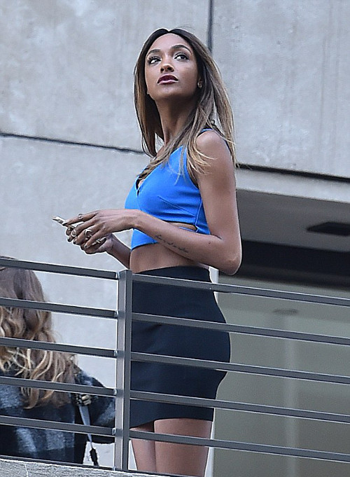 Jourdan Dunn Spotted in NYC