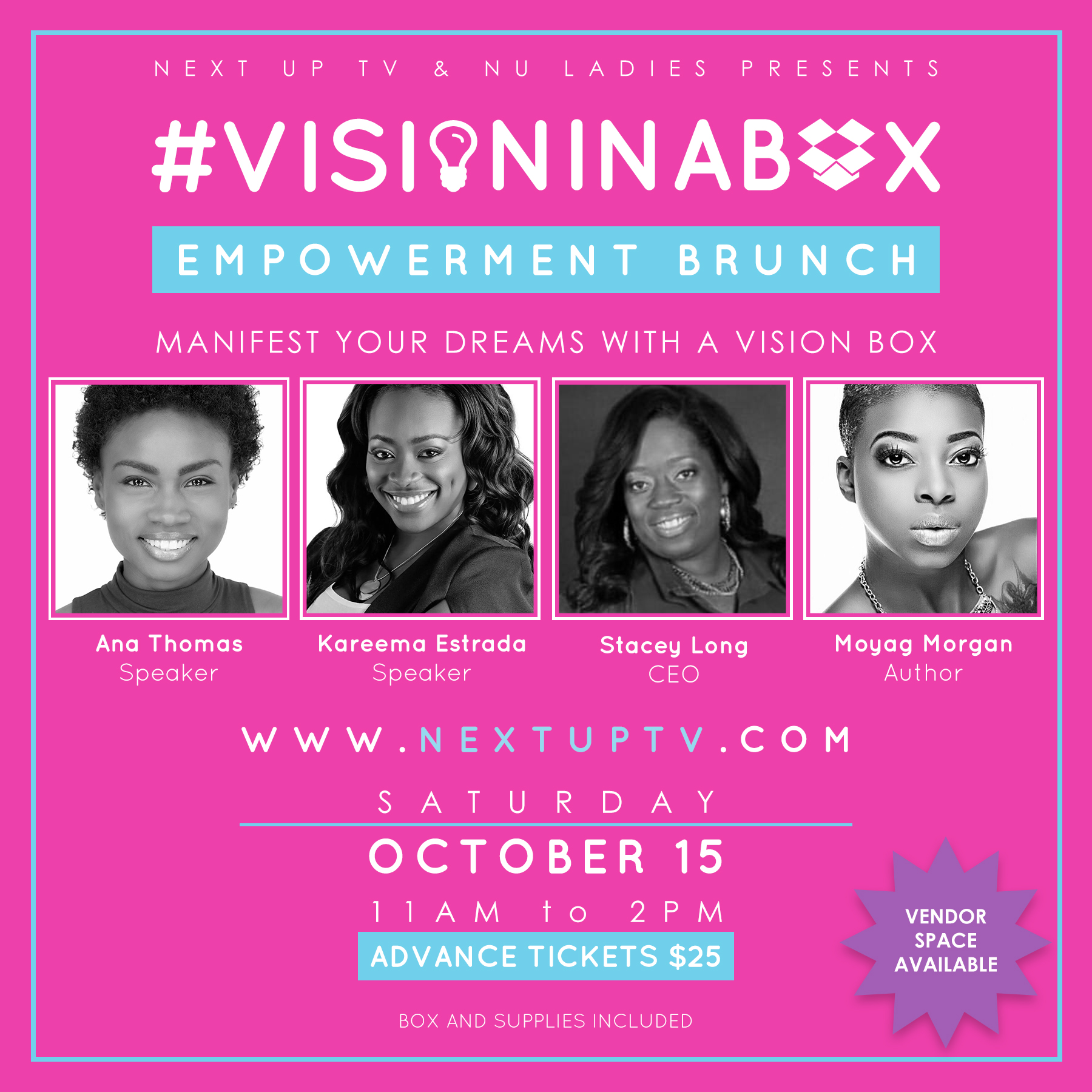 Vision In A Box Tickets